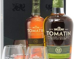 Coffret Tomatin 12 ans + 2 verres